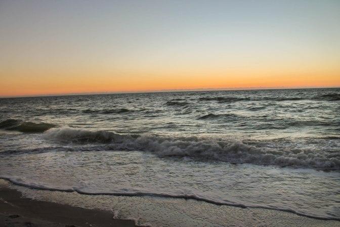 Just past sunset …