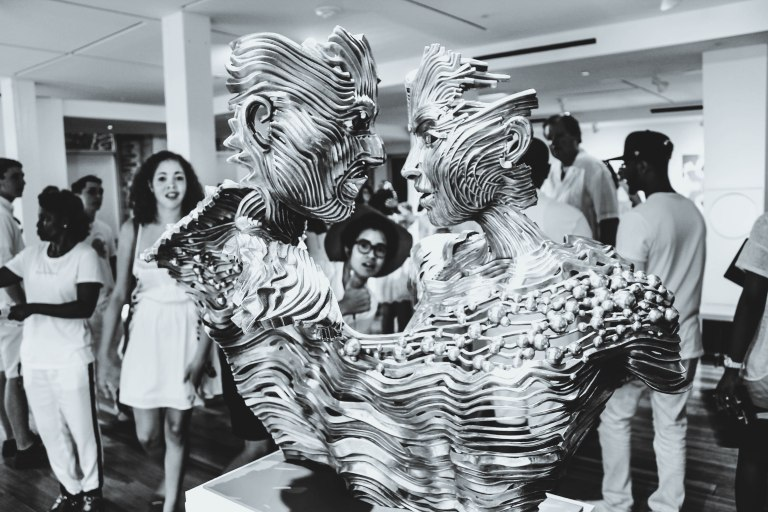 I fell in love with these metal sculptures