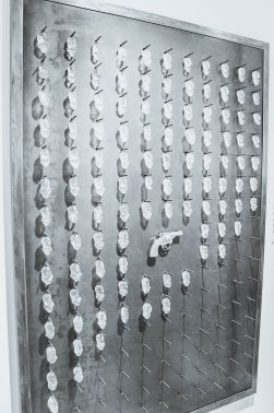 This installation had a crystal piece hung for each death by handgun in NOLA in 2015. It is updated daily.